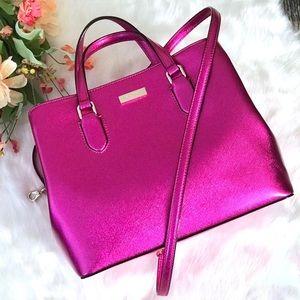 Kate Spade Laurel Way Evangeline Pink Satchel Bag